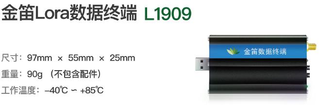 新品发布:金笛Lora数据终端L1909