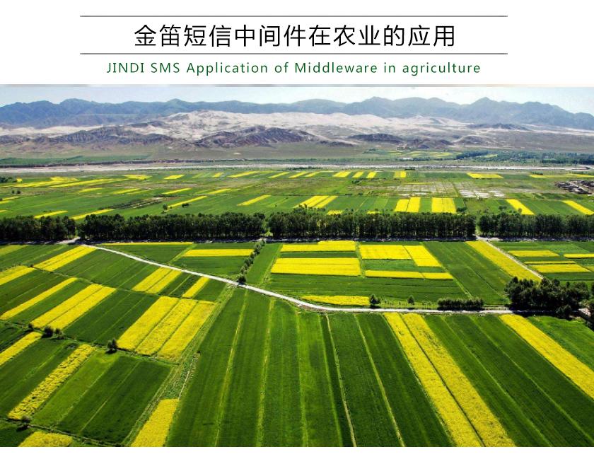金笛短信中间件在农业的应用